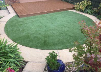 artificial lawn circular