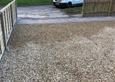 Shingle Drive With Fencing – Miller Drive area, Fareham